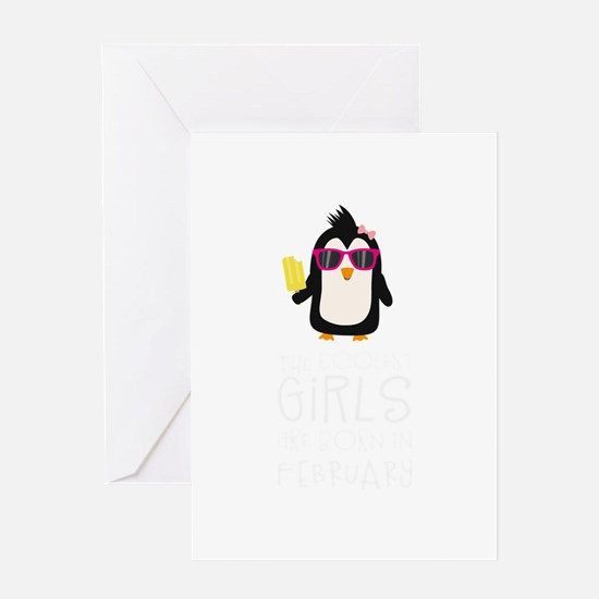 Coolest Girls Birthday in FEBRUARY Greeting Cards