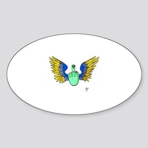 Freebird Oval Sticker (B&W)