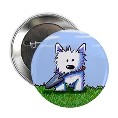 Westie Garden Helper Button