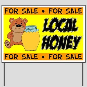 Honey For Sale Bear Yard Sign