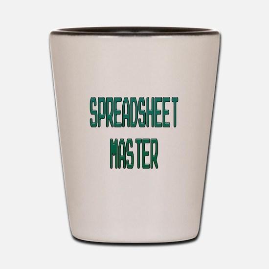 Spreadsheet Master Shot Glass