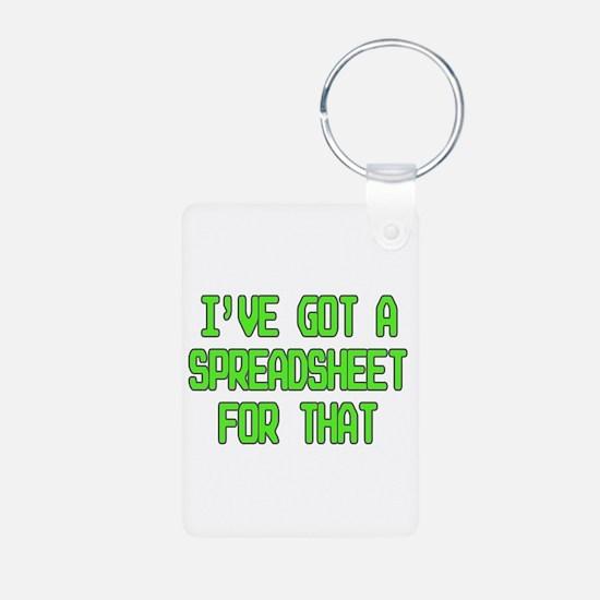 Spreadsheet Keychains
