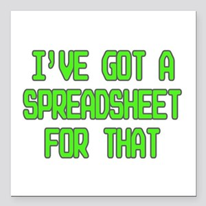 "Spreadsheet Square Car Magnet 3"" x 3"""
