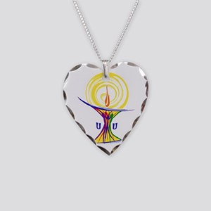 UU Unity Chalice Necklace Heart Charm