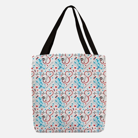 Cute Nurse Polyester Tote Bag