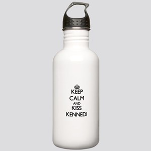 Keep Calm and kiss Kennedi Water Bottle