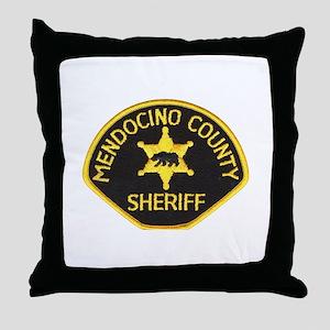 Mendocino County Sheriff Throw Pillow