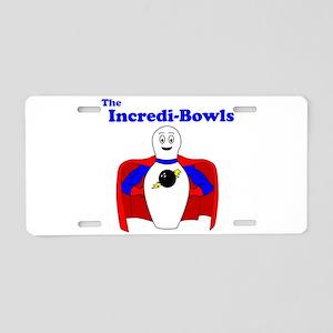The Incredi-Bowls Team Aluminum License Plate