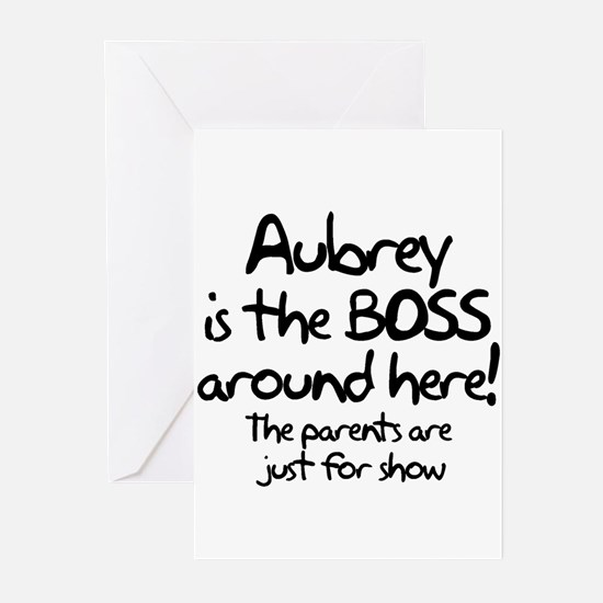 Aubrey is the Boss Greeting Cards (Pk of 10)
