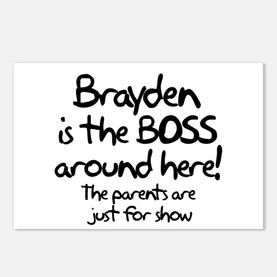 Brayden is the Boss Postcards (Package of 8)