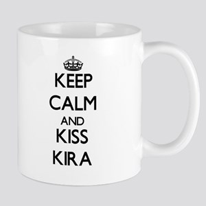Keep Calm and kiss Kira Mugs
