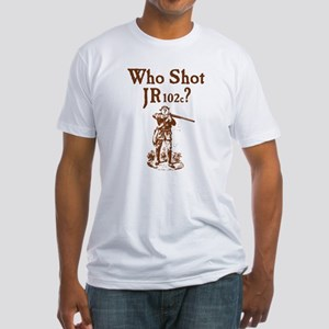 Who Shot JR102c Fitted T-Shirt