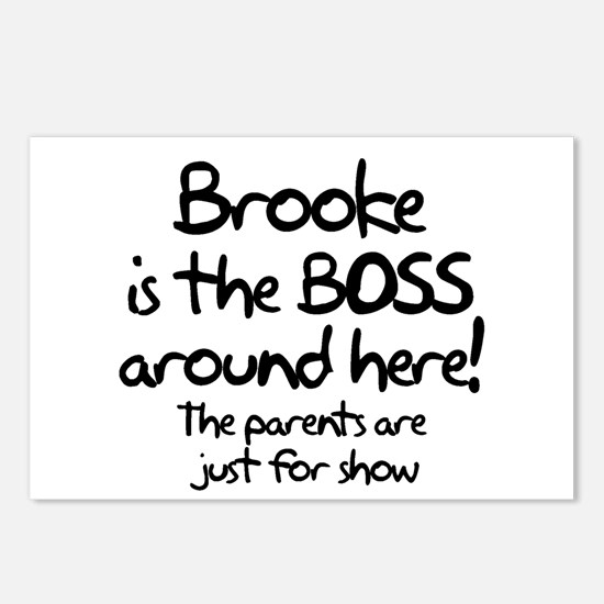 Brooke is the Boss Postcards (Package of 8)