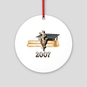 Veterinary Grad 2007 Ornament (Round)