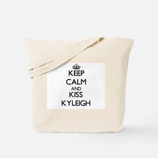 Keep Calm and kiss Kyleigh Tote Bag