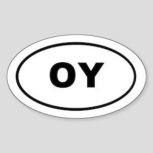 OY Euro Oval T-shirts Oval Sticker