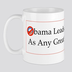 Obama Leads From Behind Mug