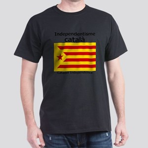 Catalan Independence (F and B) Dark T-Shirt