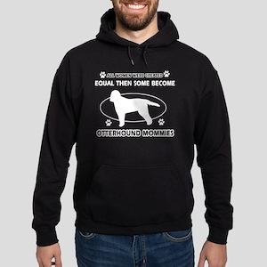 Otterhound dog breed designs Hoodie (dark)