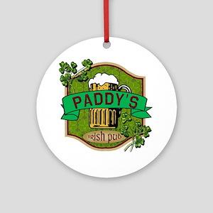 Paddy's Irish Pub Ornament (Round)