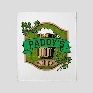 Paddy's Irish Pub Throw Blanket
