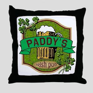 Paddy's Irish Pub Throw Pillow