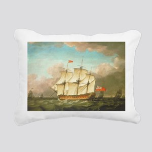 HMS Victory by Monamy Sw Rectangular Canvas Pillow