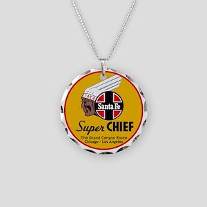 Santa Fe Super Chief1 Necklace Circle Charm
