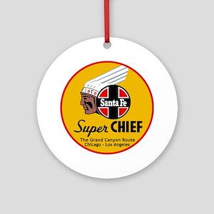 Santa Fe Super Chief1 Round Ornament
