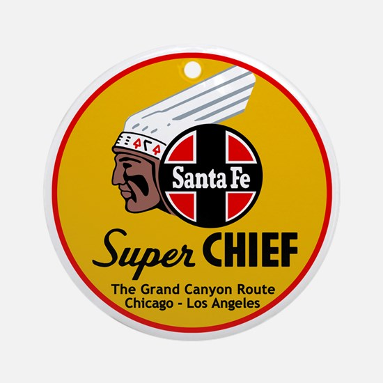 Santa Fe Super Chief1 Round Ornament