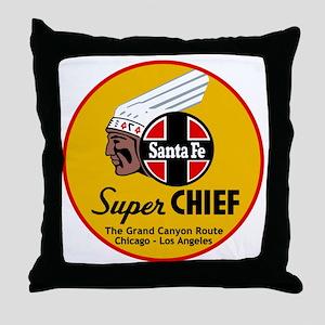 Santa Fe Super Chief1 Throw Pillow