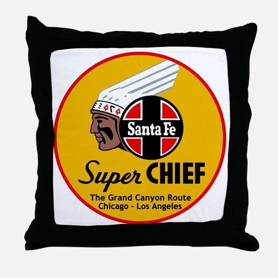 Santa Fe Super Chief1 Throw Pillow