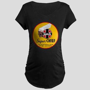 Santa Fe Super Chief1 Maternity Dark T-Shirt