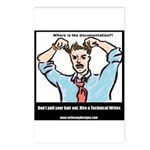 Hire a Technical Writer Postcards (Package of 8)