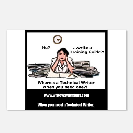Technical Writer Postcards (Package of 8)