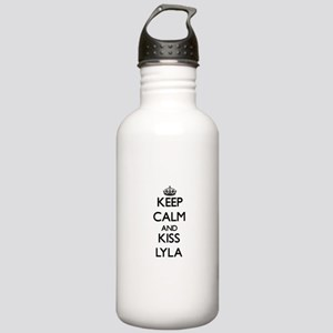 Keep Calm and kiss Lyla Water Bottle