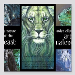 "Nature of the Beast Square Car Magnet 3"" x 3"""