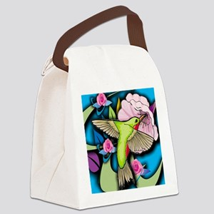 Janelle's Hummingbird Canvas Lunch Bag