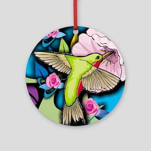 Janelle's Hummingbird Round Ornament