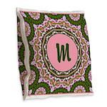 Vidalia Pink Monogram Burlap Throw Pillow