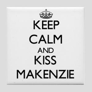 Keep Calm and kiss Makenzie Tile Coaster