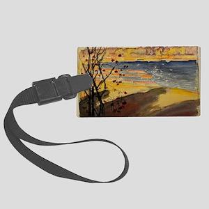 Helsinki landscape painting - Ak Large Luggage Tag
