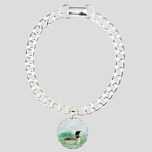 Watercolor Loon Wilderne Charm Bracelet, One Charm