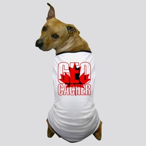Maple Leaf Geocacher Dog T-Shirt