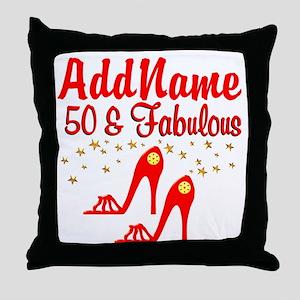 FANTASTIC 50TH Throw Pillow