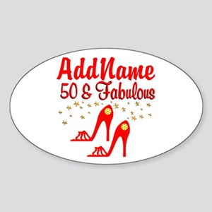 FANTASTIC 50TH Sticker (Oval)