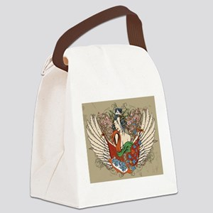 Asian Beauty Canvas Lunch Bag