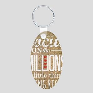 Millions Aluminum Oval Keychain