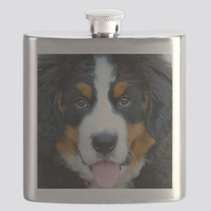 Bernese Mountain Dog Puppy 2 Flask