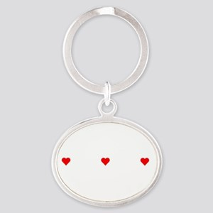 Property Of An English Coonhound Oval Keychain